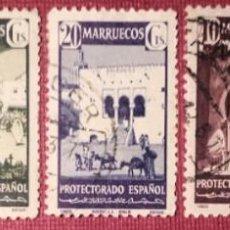 Sellos: MARRUECOS. 1941, TIPOS DIVERSOS. 5 VALORES SUELTOS (Nº 234 Y 237-240 EDIFIL).. Lote 143076210