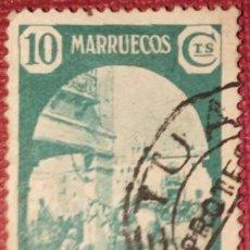 Sellos: MARRUECOS. 1939, TIPOS DIVERSOS. 10 CTS. VERDE (Nº 197 EDIFIL).. Lote 143079930