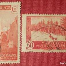Sellos: MARRUECOS. 1935-37, VISTAS Y PAISAJES. 2 VALORES SUELTOS (Nº 153-154 EDIFIL).. Lote 143081378
