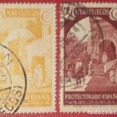 Sellos: MARRUECOS. 1933-35, VISTAS Y PAISAJES. 2 VALORES SUELTOS (Nº 137-138 EDIFIL).. Lote 143083070