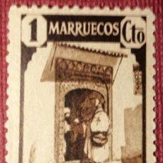 Sellos: MARRUECOS. 1940, TIPOS DIVERSOS. 1 CTS. CASTAÑO (Nº 200 EDIFIL).. Lote 143085246