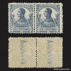 Sellos: GUINEA 1912. ALFONSO XIII. 25C. AZUL.BLOQUE 2 NUEVO* EDIFIL Nº91. Lote 143091434