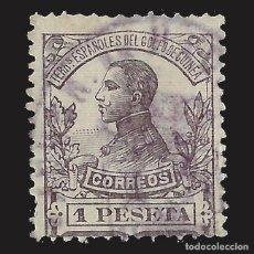 Sellos: GUINEA 1912. ALFONSO XIII. 1P. VIOLETA OSCURO. USADO EDIFIL Nº95. Lote 143094994