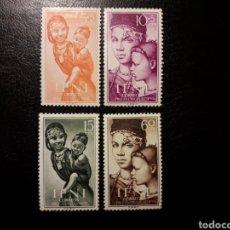 Sellos: IFNI. EDIFIL 114/7. SERIE COMPLETA NUEVA CON CHARNELA. PRO INFANCIA. MADRE E HIJO. 1954.. Lote 144591058