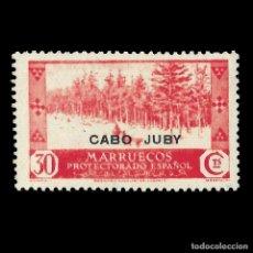 Sellos: CABO JUBY 1935-1937.SELLOS MARRUECOS. HABILITADOS.30C.ROJO.NUEVO**.EDIF.80. Lote 144852366