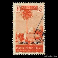 Sellos: CABO JUBY 1935-1937.SELLOS MARRUECOS.HABILITADOS.40C.NARANJA.USADO.EDIF.81. Lote 144854198