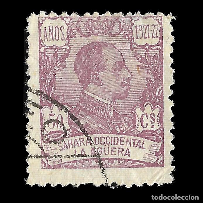 LA AGÜERA. 1923.ALFONSO XIII. 50C.LILA. USADO. EDIF. Nº23 (Sellos - España - Colonias Españolas y Dependencias - África - La Agüera)