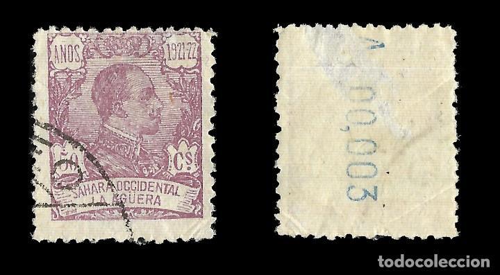 Sellos: LA AGÜERA. 1923.Alfonso XIII. 50c.lila. Usado. Edif. Nº23 - Foto 2 - 144868434