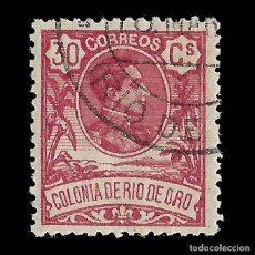 Sellos: SELLOS ESPAÑA. COLONIAS ESPAÑOLAS. RÍO DE ORO. 1909. ALFONSO XIII. 30C.CARMÍN. USADO. EDIFIL Nº48 . Lote 144882042