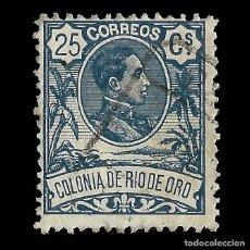 Selos: SELLOS ESPAÑA. COLONIAS ESPAÑOLAS. RÍO DE ORO. 1909. ALFONSO XIII. 25C.AZUL. USADO. EDIFIL Nº47 . Lote 144882502