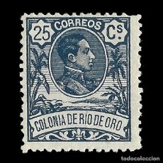 Sellos: SELLOS ESPAÑA RÍO DE ORO. 1909. ALFONSO XIII. 25C.AZUL. NUEVO** EDIFIL Nº47. Lote 144883694