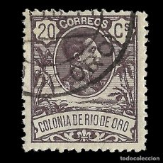 Sellos: SELLOS ESPAÑA. COLONIAS ESPAÑOLAS. RÍO DE ORO. 1909. ALFONSO XIII. 20C VIOLETA. USADO EDIFIL Nº46 . Lote 144885238