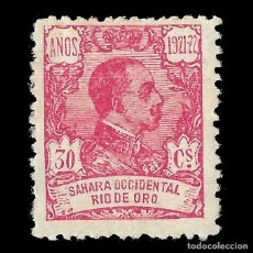 Sellos: RÍO DE ORO. 1921 ALFONSO XIII. 30C. ROSA. NUEVO**. EDIFIL Nº137. Lote 144891134