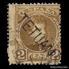 Sellos: SELLOS ESPAÑA.MARRUECOS 1908.SELLOS ESPAÑA HABILITADOS.2C. SEPIA. USADO .EDIFIL Nº15. Lote 144925106