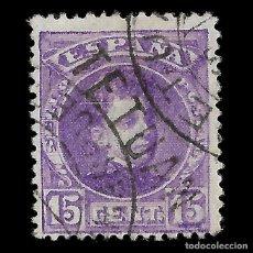 Sellos: SELLOS ESPAÑA. MARRUECOS 1908.SELLOS ESPAÑA HABILITADOS.15C. VIOLETA. USADO .EDIFIL Nº18. Lote 144925250