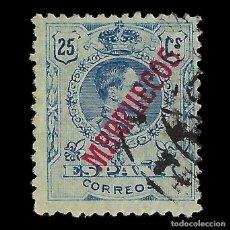Sellos: MARRUECOS 1914.SELLOS ESPAÑA HABILITADOS.25C.AZUL.USADO.EDIFIL Nº35. Lote 144930938
