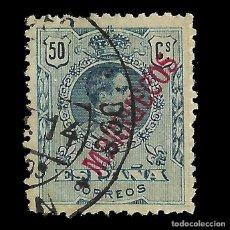 Sellos: MARRUECOS 1914.SELLOS ESPAÑA HABILITADOS.50C.VERDE AZUL.USADO.EDIFIL Nº38. Lote 144932598