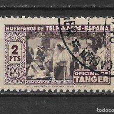 Sellos: ESPAÑA TANGER TELEGRAFOS 2 PTAS - 12/10. Lote 145159778