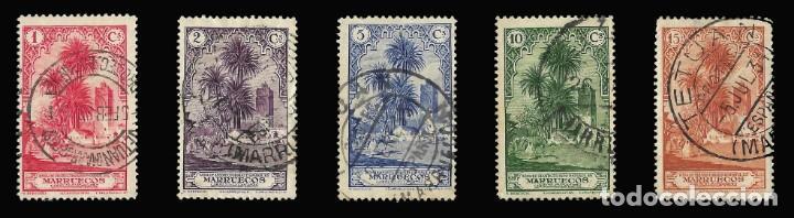 Sellos: Sellos España. . MARRUECOS 1928.Paisajes y Monumentos.Serie completa. Usado.Edif.105-118 - Foto 2 - 145515526
