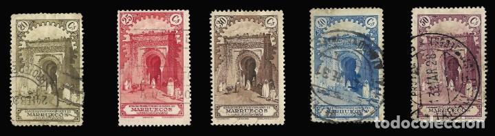 Sellos: Sellos España. . MARRUECOS 1928.Paisajes y Monumentos.Serie completa. Usado.Edif.105-118 - Foto 3 - 145515526