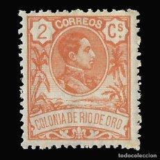 Sellos: RÍO DE ORO. 1909. ALFONSO XIII. 2C.NARANJA. NUEVO*, EDIFIL Nº42. Lote 145851762