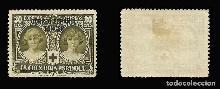 Sellos: Sellos España.TANGER 1926. Pro Cruz Roja Española. 30c.oliva. Nuevo*. Edif. Nº 30 - Foto 2 - 145886330