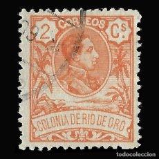 Sellos: RÍO DE ORO. 1909. ALFONSO XIII. 2C.NARANJA. USADO, EDIFIL Nº42. Lote 145947002