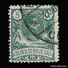 Sellos: RÍO DE ORO. 1909. ALFONSO XIII. 5C.VERDE. USADO, EDIFIL Nº43. Lote 145947294