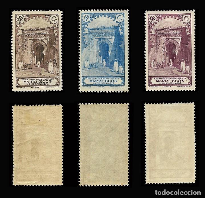 Stamps: MARRUECOS 1928.Paisajes y Monumentos.Serie completa. Nuevo.Edifil.nº105-118 - Foto 4 - 146116462