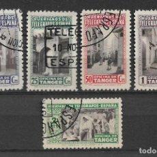 Sellos: ESPAÑA TANGER 1946 TELEGRAFOS USADOS - 8/41. Lote 146694594