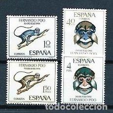 Sellos: FERNANDO POO,1966,DÍA DEL SELLO,EDIFIL 251-254. Lote 146796250