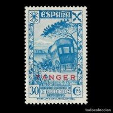 Sellos: TANGER.BENEFICENCIA. 1938.HISTORIA DEL CORREO.30C. AZUL.. NUEVO**. EDIFIL Nº 19.. Lote 147539118