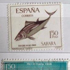 Sellos: ESPAÑA, SAHARA ESPAÑOL LOTE DE 2 SELLOS USADOS . Lote 147619474
