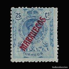 Sellos: MARRUECOS 1914.SELLOS ESPAÑA HABILITADOS.25C.AZUL. NUEVO* .EDIFIL Nº35. Lote 147639294