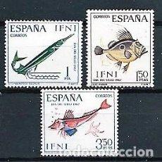 Sellos: IFNI,1967,DÍA DEL SELLO,NUEVOS,MNH**,EDIFIL 230-232. Lote 147747438