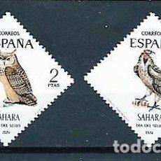 Sellos: SAHARA,1974.DÍA DEL SELLO,NUEVOS,MNH**,EDIFIL 317-318. Lote 147934634