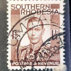 Sellos: RHODESIA DEL SUR - REY JORGE VI - 1½ P - 1937. Lote 148841158
