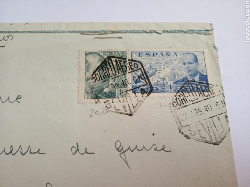 Sellos: Sobre correo aereo Larache.marruecos español.colonias españolas.matasello.franquista.filatelia.sello - Foto 3 - 150352516