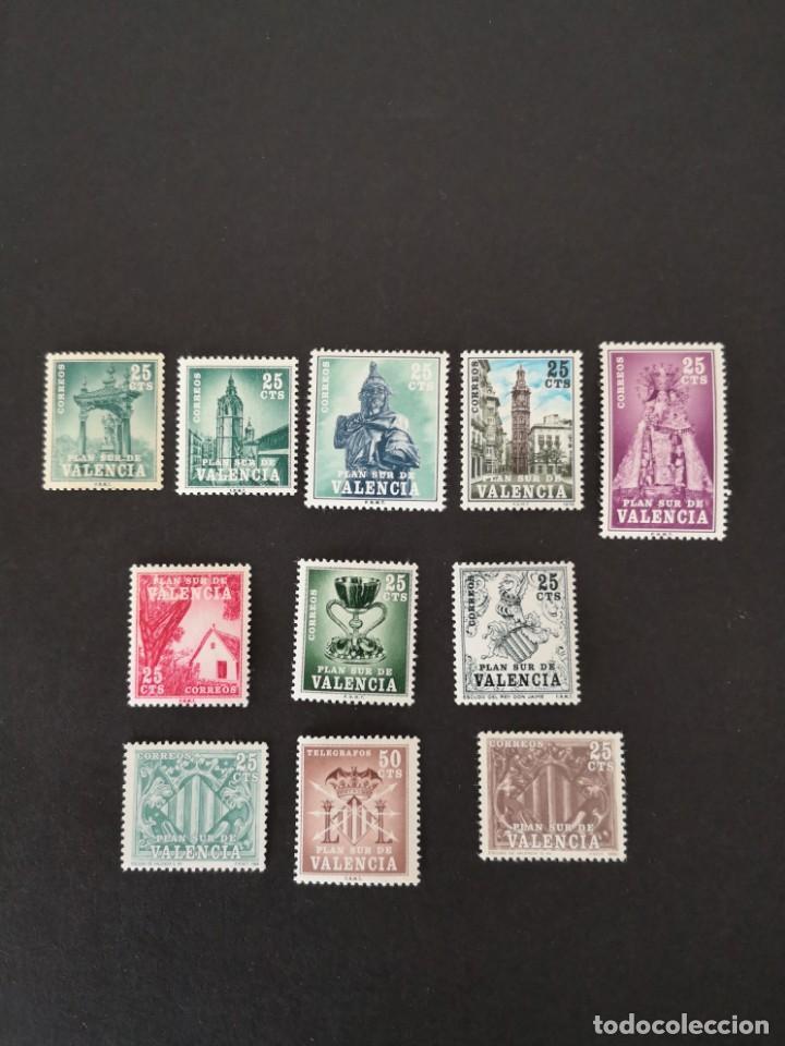 ESPAÑA 1963 SERIE COMPLETA PLAN SUR DE VALENCIA NUEVOS SIN FIJASELLOS (Sellos - España - Colonias Españolas y Dependencias - África - Otros)