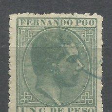 Sellos: 489-SELLO CLASICO 1882 Nº5 COLONIA ESPAÑOLA EN AFRICA FERNANDO POO,VALOR 8,00€ APROX.REY ALFONSO XI. Lote 150805890