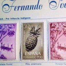 Sellos: SELLOS FERNANDO POO 1964 PRO INFANCIA SERIE COMPLETA 3 VALORES. Lote 151556142