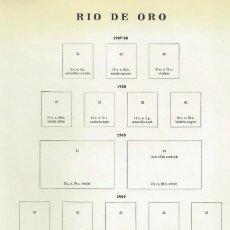 Sellos: RIO DE ORO - LOTE DE SELLOS EN PAGINAS ANTIGUAS DE ALBUM. Lote 151861778
