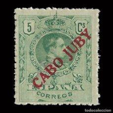 Sellos: CABO JUBY. 1919.SELLOS DE ESPAÑA.1876-1902-22. 5C. VERDE. NUEVO** EDIF.Nº 7.. Lote 151870154