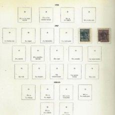 Sellos: ELOBEY, ANNOBÓN Y CORISCO - 2 SELLOS ANTIGUOS EN HOJA DE ALBUM. Lote 151870838