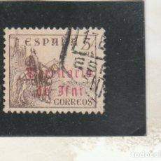 Sellos: IFNI 1948-49 - EDIFIL NRO. 39 - SELLO ESPAÑA 5C. HABILITADO - USADO. Lote 152434118