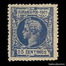 Timbres: SELLO FERNANDO POO 1901 ALFONSO XIII. 25C. ULTRAMAR. NUEVO*. EDIFIL Nº101.. Lote 152515738