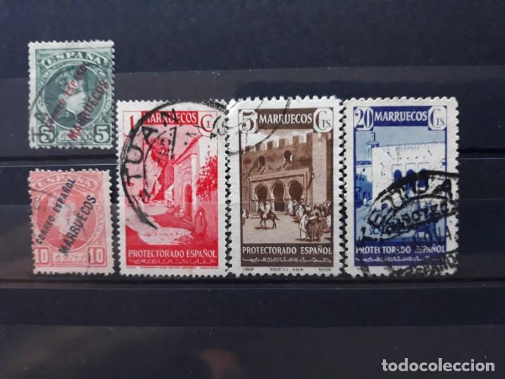 LOTE 5 SELLOS MARRUECOS. EN USADO (Sellos - España - Colonias Españolas y Dependencias - África - Marruecos)