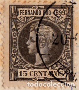 1899 - FERNANDO POO - ALFONSO XIII - EDIFIL 63 (Sellos - España - Colonias Españolas y Dependencias - África - Fernando Poo)