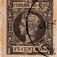 Sellos: 1899 - FERNANDO POO - ALFONSO XIII - EDIFIL 63. Lote 153860114