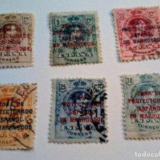 Sellos: SELLOS DE ESPAÑA DE 1909 HABILITADOS ZONA DE PROTECTORADO ESPAÑOL EN MARRUECOS 1916 -20. Lote 154400350